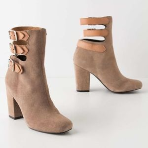 Anthropologie Pied Juste Buckle Ankle Booties 9 39